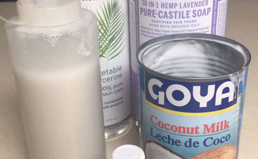 DIY Coconut Milk Shampoo