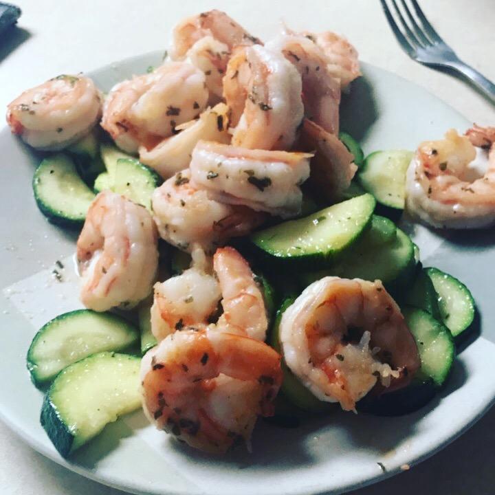 Sautéed Shrimp &Zucchinni